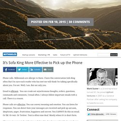 It's Sofa King More Effective to Pick up the Phone | Bothsides of the Table