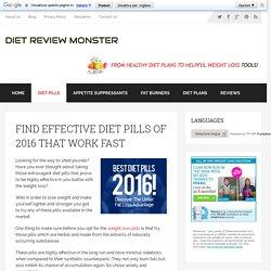 Find Top Effective Diet Pills of 2016 - Diet Review Monster