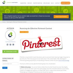 Running An Effective Pinterest Contest | Command Partners