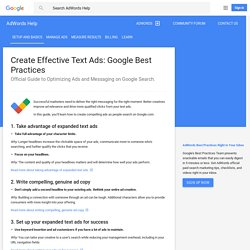 Create Effective Text Ads: Google Best Practices - AdWords Help
