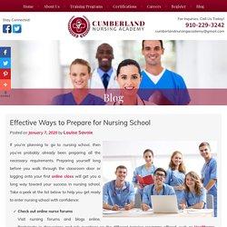 Effective Ways to Prepare for Nursing School