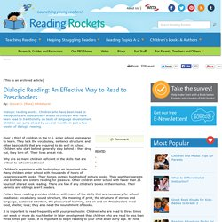 Dialogic Reading: An Effective Way to Read to Preschoolers