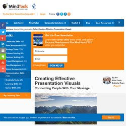 Creating Effective Presentation Visuals - From MindTools.com