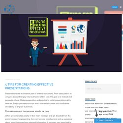 5 Tips for Creating Effective Presentations - PitchWorx