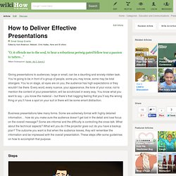 How to Deliver Effective Presentations
