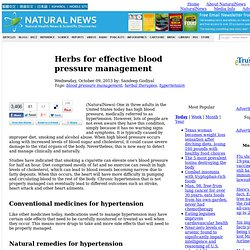 Herbs for effective blood pressure management