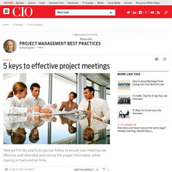 5 keys to effective project meetings