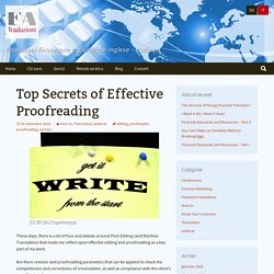 Top Secrets of Effective Proofreading