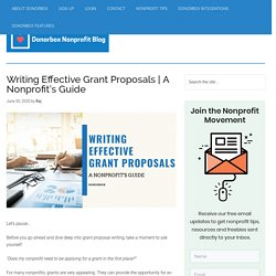 How To Write An Effective Grant Proposal