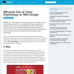 Effective Use of Color Psychology in Web Design