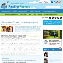 Effective Out-of-School Time Reading Programs