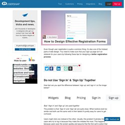 How to Design Effective Registration Forms - Usersnap Blog
