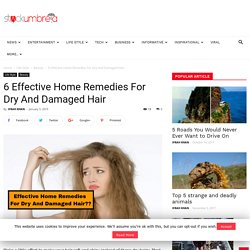 6 Effective Home Remedies For Dry And Damaged Hair