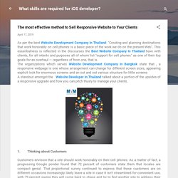 The most effective method to Sell Responsive Website to Your Clients