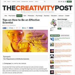 Tips on How to Be an Effective Scientist