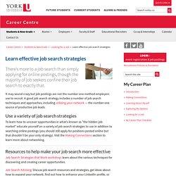 Learn effective job search strategies