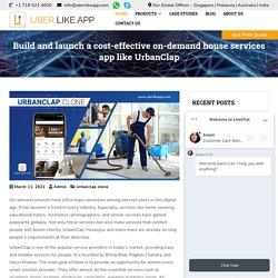 Launch a cost-effective on-demand house services app like UrbanClap