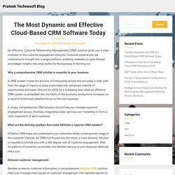 The Most Dynamic and Effective Cloud-Based CRM Software Today – Prateek Technosoft Blog