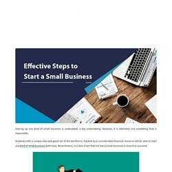 Top 7 Effective Steps to Start a Small Business