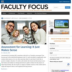 Effective Teaching Strategies for the College Classroom