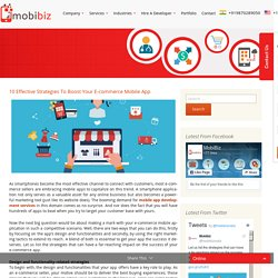 10 Effective Strategies To Boost Your E-commerce Mobile App