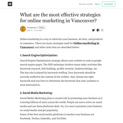 What are the most effective strategies for online marketing in Vancouver?