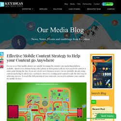 Effective Mobile Content Strategy to Help your Content go Anywhere