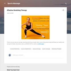 Effective Stretching Therapy