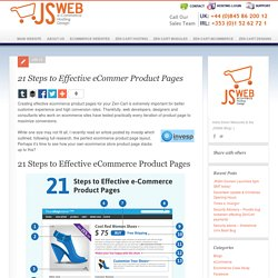 21 Steps to Effective eCommer Product Pages - JSWeb - Helping You Build a Successful eCommerce Business