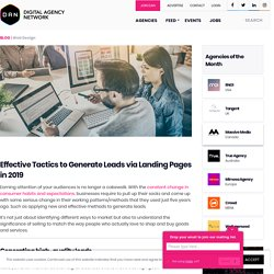 Effective Tactics to Generate Leads via Landing Pages in 2019