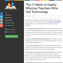 7 habits of highly effective teachers Always Prepped Blog