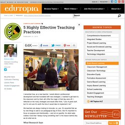 5 Highly Effective Teaching Practices