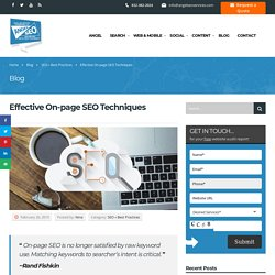Effective On-page SEO Techniques