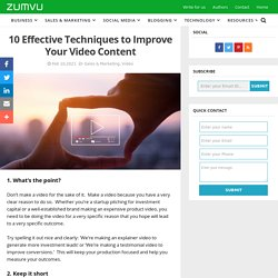 10 Effective Techniques to Improve Your Video Content