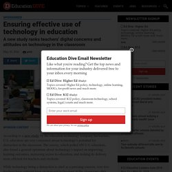 Ensuring effective use of technology in education