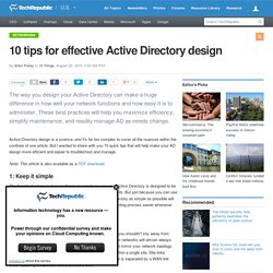 10 tips for effective Active Directory design