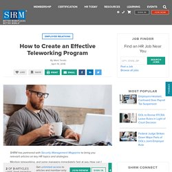 How to Create an Effective Teleworking Program