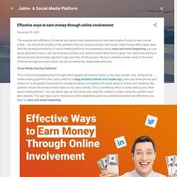 Effective ways to earn money through online involvement