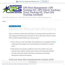 Options for Effective fleet GPS tracking – GPS Fleet Management