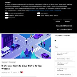 11 Effective Ways To Drive Traffic To Your Website » Shining Content