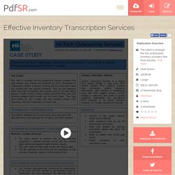 Effective Inventory Transcription Services