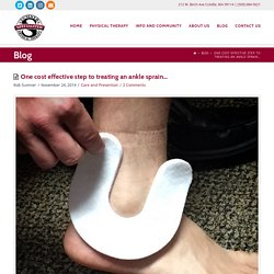 One cost effective step to treating an ankle sprain…