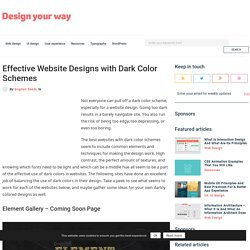 Effective Website Designs with Dark Color Schemes