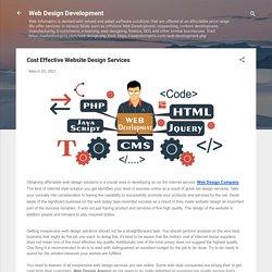 Cost Effective Website Design Services