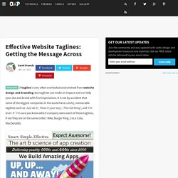 Effective Website Taglines: Getting the Message Across