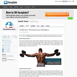 5 Effective Workouts for Shoulders by Health Stow