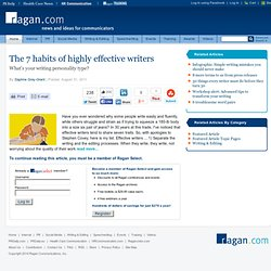 The 7 habits of highly effective writers