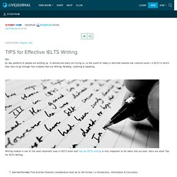 TIPS for Effective IELTS Writing: studyhub