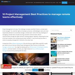 10 Project Management Best Practices to manage remote teams effectively - Dallas-BorderlessMind