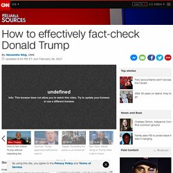 Effectively fact-check Donald Trump